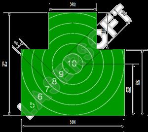 Мишень №4. Грудная фигура с кругами